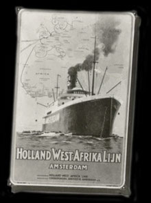 Emaille bord Holland - West Afrikalijn